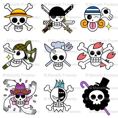 Anime Pirate Flags - small