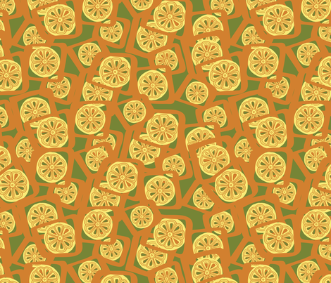 That 70's Lemonade Stand fabric by megancarroll on Spoonflower - custom fabric