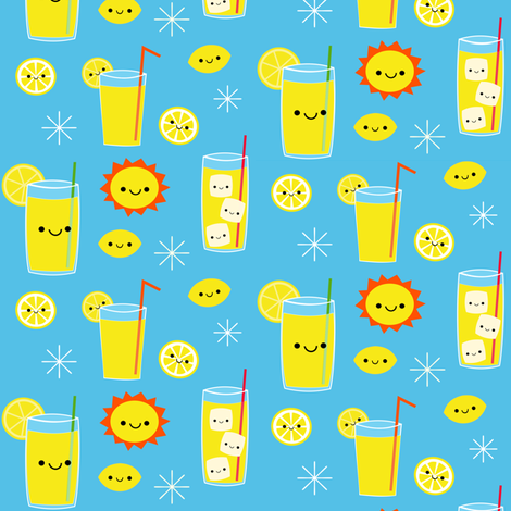 Happy Summer! fabric by clayvision on Spoonflower - custom fabric