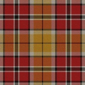 Pinkish Red Yellow Black Plaid 3