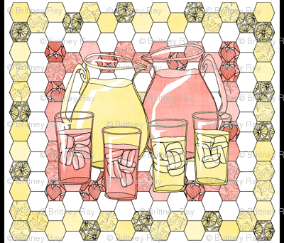 Lemonade Quilted Panel