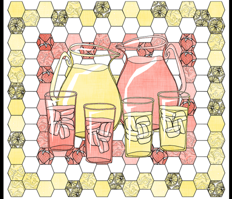 Lemonade Quilted Panel fabric by pond_ripple on Spoonflower - custom fabric