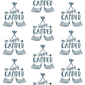 Happy Camper - Navy