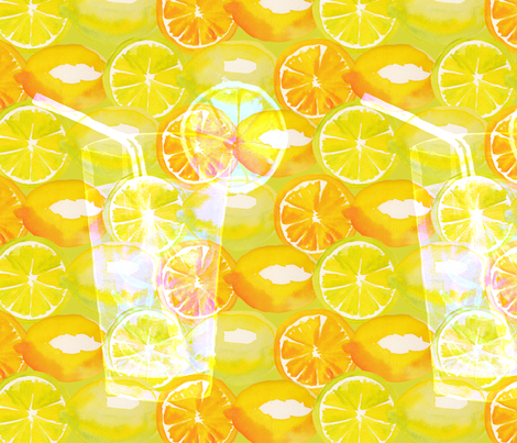 lemonade fabric by kana_hata on Spoonflower - custom fabric
