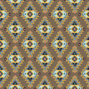 Tribal Ikat Dusk Blue