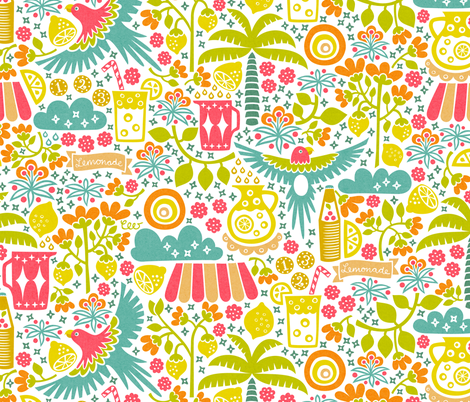 Miami Beach Lemonade Stand fabric by studio_amelie on Spoonflower - custom fabric