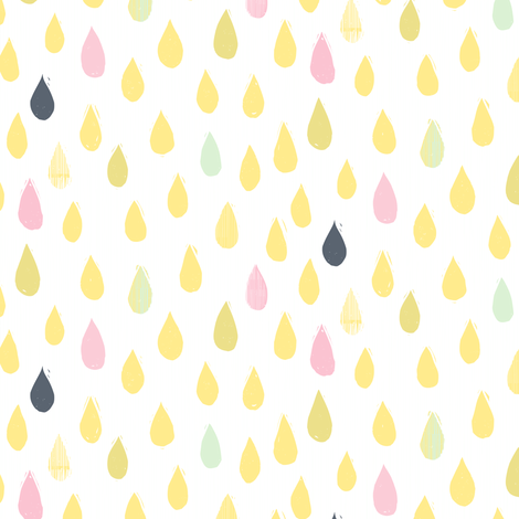 Lemonade Color Drops by Friztin fabric by friztin on Spoonflower - custom fabric