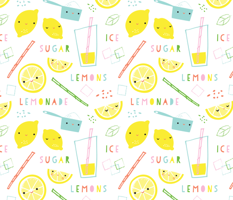 lemonade time fabric by shindigdesignstudio on Spoonflower - custom fabric