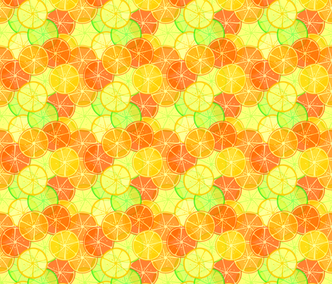 Lemonade fabric by art_of_sun on Spoonflower - custom fabric