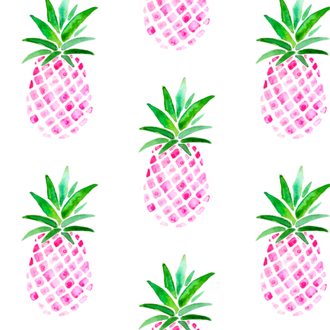 Pink Pineapple fabric by emeryallardsmith on Spoonflower - custom fabric