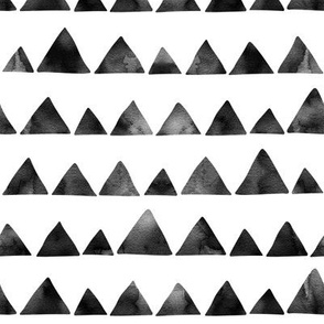 Triangles black ink