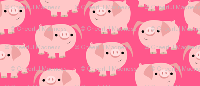 Cute Clever Cartoon Pigs by Cheerful Madness!!