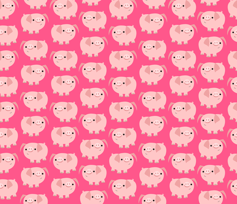 Cute Clever Cartoon Pigs by Cheerful Madness!! fabric by cheerfulmadness_cartoons on Spoonflower - custom fabric