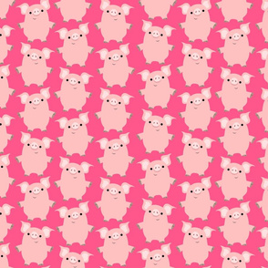 Cute Friendly Cartoon Pigs by Cheerful Madness!!