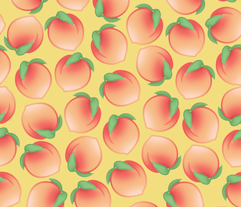 Peach Pattern fabric by ophelia on Spoonflower - custom fabric