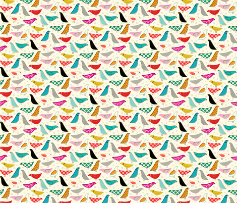 A Nod to the House Bird - 25% Scale fabric by katerhees on Spoonflower - custom fabric