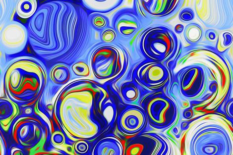 big blue bubbles for Joan 2 fabric by keweenawchris on Spoonflower - custom fabric