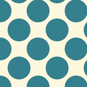 Blue Apple Polkadots