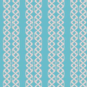 Grid in Double Blue