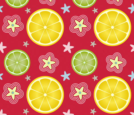 Lemon_Simple_Red fabric by kimberly_guccione on Spoonflower - custom fabric