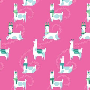 llama dance in pink