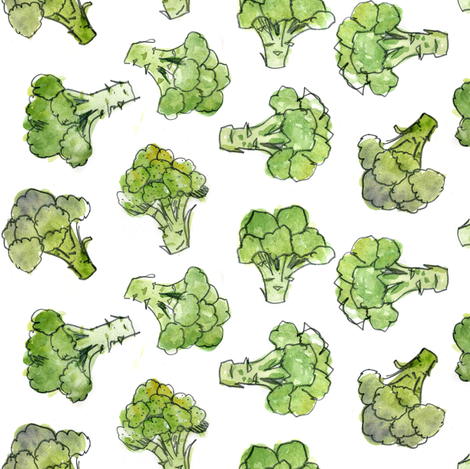Broccoli - Scatter fabric by crumpetsandcrabsticks on Spoonflower - custom fabric