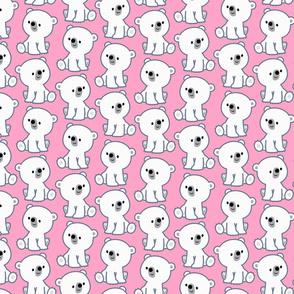 Sweet Cartoon Polar Bear Cub Pink by Cheerful Madness!!