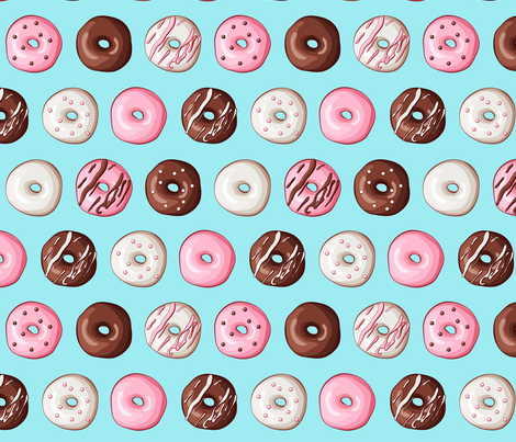 Frosted Donuts fabric by tictactogs on Spoonflower - custom fabric