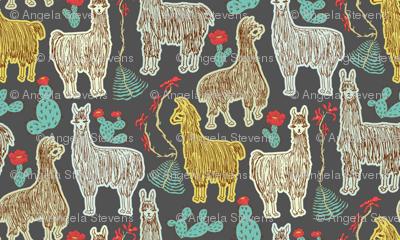 Shaggy Dark Llamas