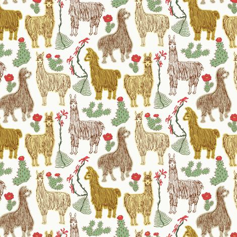 Shaggy Light Llamas fabric by angelastevens on Spoonflower - custom fabric
