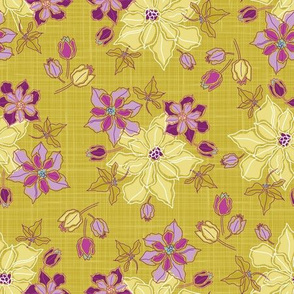 Flowers on Gold