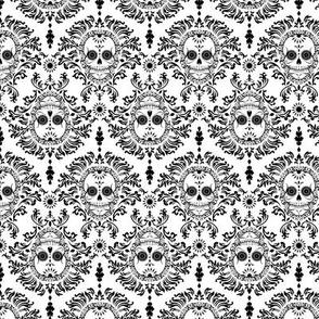 Dead Damask Black on White