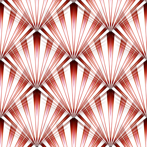 Candy Cane Retro Rays fabric by flutterbi on Spoonflower - custom fabric