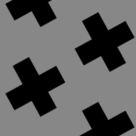 crosses gray large fabric by rileynicole on Spoonflower - custom fabric