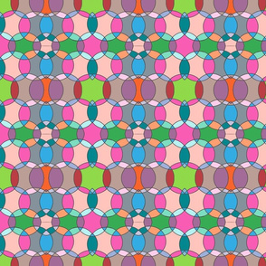 colourful interconnecting circles