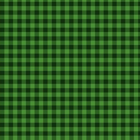 grass green gingham fabric by weavingmajor on Spoonflower - custom fabric