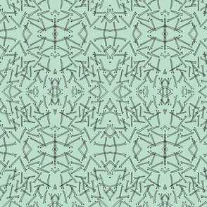 Bobby Pin Kaleidoscope in Mint