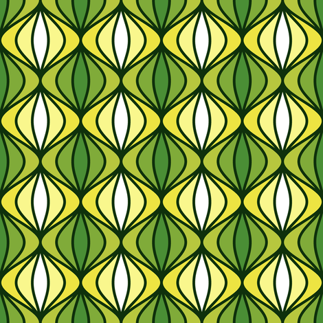 sine pod - goats munch wild garlic fabric by sef on Spoonflower - custom fabric