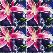 Stargazer Lily Tiles