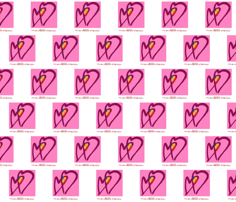 Rainbow hearts fabric by slick on Spoonflower - custom fabric