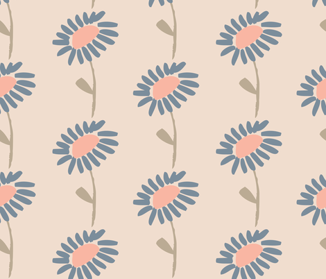 blue blossoms fabric by shindigdesignstudio on Spoonflower - custom fabric