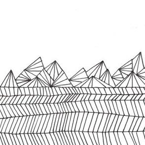 geometric mountain range