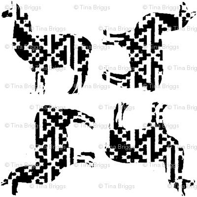 Llama black&white1