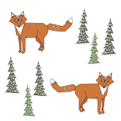 fox n trees red - elvelyckan
