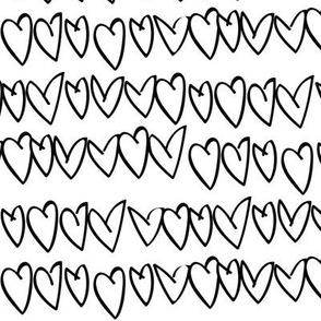 bw hearts - elvelyckan