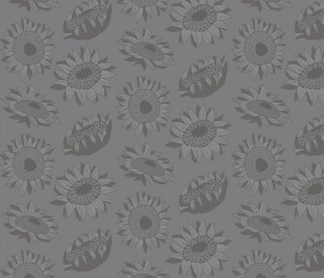 Sunflowers fabric by radredhead on Spoonflower - custom fabric