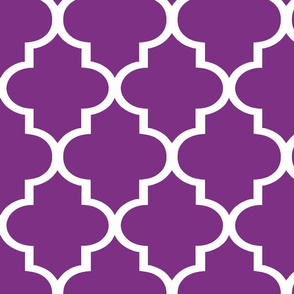 Quatrefoil in Plum