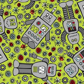 Retro Robots (Green)