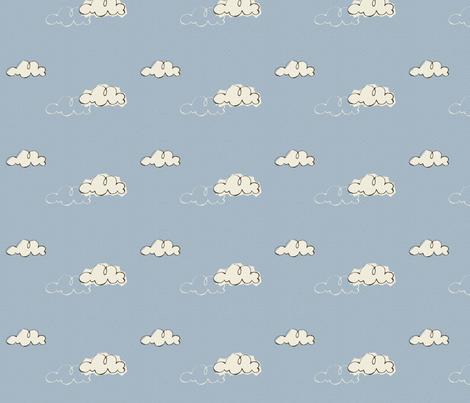 Llama Clouds fabric by beckarahn on Spoonflower - custom fabric