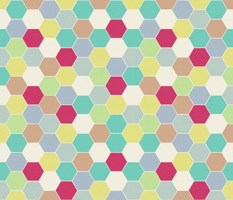 Llama Hexie Tiles fabric by beckarahn on Spoonflower - custom fabric